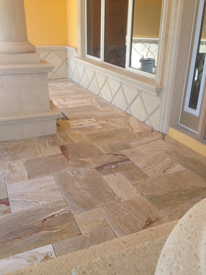 Travertine Marble Patio (Fort Lauderdale, FL)